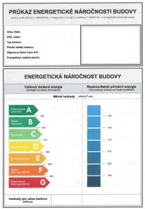 Průkaz energetické náročnosti